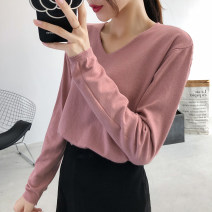 Wool knitwear Autumn of 2019 One size fits all (70-135) Long sleeves singleton  Socket Viscose 51% (inclusive) - 70% (inclusive) Regular routine commute easy V-neck routine Solid color Korean version 2001 plug in V-neck 18-24 years old Iluoyu Pure e-commerce (online only)