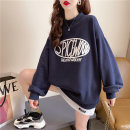 Women's large Spring 2021 Blue apricot Khaki M L XL Sweater / sweater Fake two pieces commute thin Socket Long sleeves Shape letter Korean version Crew neck routine cotton routine hl2989 Iluoyu 25-29 years old thread Polyester 75% cotton 25% Pure e-commerce (online only)