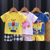 suit Feiyang Yubei 73cm 80cm 90cm 100cm 110cm 120cm 130cm neutral summer Korean version Short sleeve + pants 2 pieces Thin money No model Socket nothing Cartoon animation Pure cotton (100% cotton content) children Learning reward Class A Cotton 100% Spring 2020 Chinese Mainland Henan Province