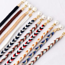 Belt / belt / chain other Black, white, khaki, coffee, color -- red, color -- blue, white khaki, black blue white, color -- pink, color -- khaki female Waist chain Versatile Single loop Youth, youth bow soft surface 0.8cm Naked, woven, tassel, candy color YL212 100cm