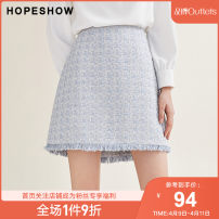 skirt Winter of 2019 S M L XL Short skirt grace Natural waist A-line skirt lattice Type A 25-29 years old 51% (inclusive) - 70% (inclusive) Hopeshow  cotton Same model in shopping mall (sold online and offline)