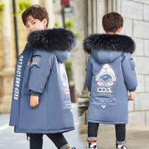 Cotton padded jacket male No detachable cap polyester 120cm,130cm,140cm,150cm,160cm,170cm thickening Zipper shirt Korean version Cartoon animation cotton 3 months