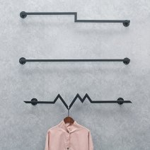 Clothing display rack Z-shape 80cm, I-shape 120cm, I-shape 100cm, wavy shape 100cm, wavy shape 80cm, Z-shape 120cm, Z-shape 100cm, I-shape 80cm, wavy shape 120cm clothing iron On the wall Other / other Official standard