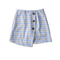skirt Summer 2020 XS,S,M,L Blue, red, orange Short skirt High waist lattice Type A 31% (inclusive) - 50% (inclusive)