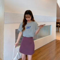 Casual suit Summer 2020 Top + hip skirt two piece single top single skirt S M L XL 6*** Urnciaxur / an Caixuan Other 100%