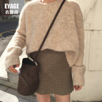 Fashion suit Autumn of 2019 S. M, l, XL, one size fits all White sweater 896, apricot sweater 896, plaid skirt 899 18-25 years old Other / other 31% (inclusive) - 50% (inclusive) cotton