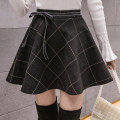 skirt Winter 2020 S M L XL 2XL Black and gray Short skirt Versatile High waist Fluffy skirt lattice Type A 18-24 years old More than 95% Wool Cherry and lemon other Other 100% Pure e-commerce (online only)