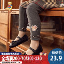 trousers CLASSIC TEDDY MINI female 80cm 90cm 100cm 110cm 120cm 130cm spring and autumn trousers leisure time There are models in the real shooting Leggings Leather belt cotton Don't open the crotch Cotton 95% polyurethane elastic fiber (spandex) 5% TMT029M10033142 Class A Summer of 2019