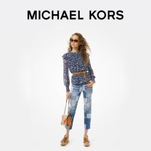 Lace / Chiffon Spring 2020 Youth Blue XS XXS S M L Long sleeves Regular Michael Kors MS04M1KE7V424 Polyester 100% Same model in shopping mall (sold online and offline)