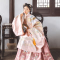 Hanfu 81% (inclusive) - 90% (inclusive) Top coat -- spot, bottom skirt -- spot S M L polyester fiber