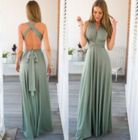 Dress Summer of 2018 Light blue, violet, red, black, champagne, greyish green S,M,L,XL longuette singleton  commute low-waisted Solid color Irregular skirt Hanging neck style 18-24 years old Type X Korean version 81% (inclusive) - 90% (inclusive) knitting Cellulose acetate