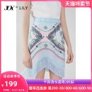 skirt Summer 2020 150/58A/XS 155/62A/S 160/66A/M 165/70A/L 170/74A/XL 422 blue grey Short skirt commute High waist Irregular Decor Type A 25-29 years old 120249C6926 More than 95% other Lily / Lily polyester fiber printing Ol style Polyester 100% Same model in shopping mall (sold online and offline)