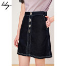 skirt Spring of 2019 XS S M L XL 411 Tibetan green Short skirt commute Natural waist Denim skirt Solid color Type A 25-29 years old 119229G6926 More than 95% other Lily / Lily cotton Button Ol style Cotton 100% Same model in shopping mall (sold online and offline)