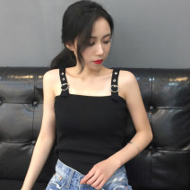 Vest sling Summer 2017 Average size singleton  have cash less than that is registered in the accounts Self cultivation Versatile camisole Solid color 18-24 years old 96% and above polyester fiber