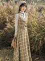 Fashion suit Spring 2021 S,M,L,XL Two piece vest skirt, Vest + skirt + shirt [three piece set], single shirt