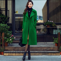 woolen coat Spring 2020 wool 31% (inclusive) - 50% (inclusive) have more cash than can be accounted for Long sleeves street double-breasted routine tailored collar Solid color Self cultivation 35-39 years old Solid color polyester fiber Europe and America