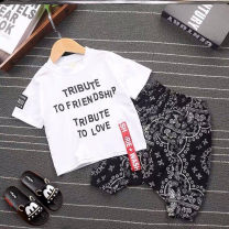 suit Other / other H83 - black, o51 - white, i68 - red, K35 - black, L39 - yellow, F20 - blame me, red 120cm,100cm,110cm,80cm,90cm,73cm summer cotton S48286 3 months