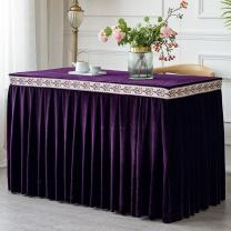 tablecloth White, off white, gray, red, champagne, dark green, sky blue, treasure blue, lake blue, Navy, deep purple, jujube red, golden 1, golden 2, Orange 1, orange 2, orange + Purple waist Length 120 * width 60 * height 75cm, customized according to size / M Solid color
