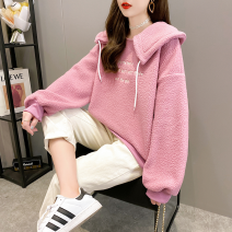 short coat Winter 2020 M L XL 2XL Off white purple Long sleeves routine thickening singleton  easy commute routine Doll Collar letter 18-24 years old Xinqiao clothes 96% and above printing other Other 100% Pure e-commerce (online only)