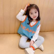 suit Other / other female spring and autumn Korean version Long sleeve + pants routine There are models in the real shooting Socket No detachable cap Solid color other Class B 2 years old