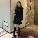 Women's large Autumn 2020 black M (80-100), l (100-120), XL (120-140), 2XL (140-160), 3XL (160-180), 4XL (180-200) Sweater / sweater singleton  commute easy thick Socket Long sleeves Solid color Korean version Hood Medium length Polyester, cotton other 759# zipper Medium length zipper