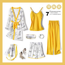 Pajamas / housewear set female Yingliya M (recommended weight 80-100 kg) l (recommended weight 100-120 kg) XL (recommended weight 120-140 kg) cotton Long sleeves sexy Leisure home autumn Cartoon animation trousers Tether youth rubber string printing 7JTCM-190719001 Autumn of 2019 no