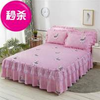 Bed skirt One pair of lace pillowcases for 1.2x2m bed skirt, one pair for 1.5X2m bed skirt, one pair for 1.8x2m bed skirt, one pair for 1.8x2m bed skirt, one pair for 1.8x2m bed skirt and one pair for 2x2.2m bed skirt polyester cotton Other / other Plants and flowers Qualified products