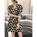 Dress Summer 2020 white S M L Mid length dress singleton  Short sleeve street V-neck High waist other Socket other puff sleeve Others 25-29 years old Type A Jiaopinqian Lace up waist FI202x80039p 81% (inclusive) - 90% (inclusive) polyester fiber Polyester 90% other 10% Pure e-commerce (online only)