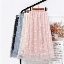 skirt 1.1 meters for 120, 1.2 meters for 130, 1.3 meters for 140, 1.4 meters for 150, 1.5 meters for 160 and 1.0 meters for 110 yards Apricot, pink, violet, green, blue, black Other / other female Other 100% Broken flowers A-line skirt