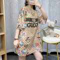 Women's large Summer 2021 Picture color L XL S M singleton  street Short sleeve Decor Crew neck other routine C20051-2821 European style Diamond inlay 96% and above Short skirt Other 100% Pure e-commerce (online only) other Europe and America