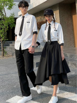 student uniforms Summer 2020 White shirt (Unisex) boys' suit girls' suit boys' trousers S ml XL 2L 3XL 4xl-6x class uniform customization Short sleeve Korean version skirt 18-25 years old Goveiffe other GWF006650 71% (inclusive) - 80% (inclusive) Other 100% Pure e-commerce (online only)