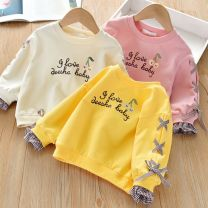 Sweater / sweater Other / other Pink, bright yellow female 90cm,100cm,110cm,120cm,130cm spring and autumn No detachable cap other letter