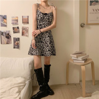 Women's large Summer 2021 Leopard Dress S [80-90 Jin] m [90-105 Jin] l [105-120 Jin] XL [120-135 Jin] 2XL [135-150 Jin] 3XL [150-165 Jin] 4XL [165-180 Jin] Dress singleton  commute Socket Sleeveless Korean version other other TTH1415163 Iris Rosa 18-24 years old 96% and above Middle-skirt Other 100%