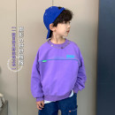 Sweater / sweater Other / other violet male The recommended height is about 100cm for size 100, 110cm for Size 110, 120cm for Size 120, 130cm for Size 130, 140cm for size 140, 150cm for size 150 and 160cm for size 160 spring and autumn nothing Korean version Socket routine cotton Solid color AS5002