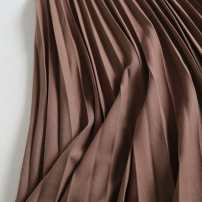 skirt Autumn of 2019 S,M,L Black, brown Mid length dress High waist Solid color