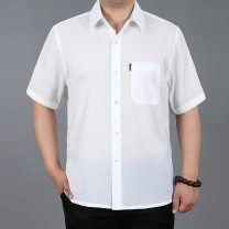 shirt Business gentleman Others M / suggest 110 to 125 kg ztkc, L / 130 to 145 kg smhj, XL / 150 to 165 kg dtwq, XXL / 170 to 185 kg IFL, XXXL / 190 to 200 kg ob, XXXXL / 210 to 220 kg awnt Thin money square neck Short sleeve easy Other leisure summer Large size Business Casual other silk silk other