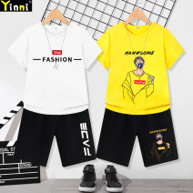 suit Leading Secrets 100cm 110cm 120cm 130cm 140cm 150cm 160cm 170cm male summer motion Short sleeve + pants 2 pieces Thin money There are models in the real shooting Socket nothing Cartoon animation cotton 2021 fashion DXTZ-2 Class B Cotton 100% Spring 2021 Chinese Mainland Guangdong Province