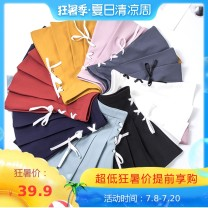 skirt Summer 2020 S M L XL 2XL Short skirt Versatile High waist Pleated skirt Solid color Type A 18-24 years old Santa Fe bow