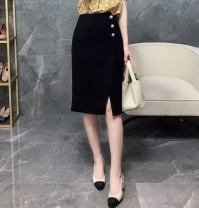 skirt Other polyester 95% 5% Pure e-commerce (online sales only) Three dimensional decorative button zipper stitching Summer 2021 High waist commute Middle-skirt A-line skirt Solid color 91% (inclusive) - 95% (inclusive) Type A 30-34 years old polyester fiber W26Q32317 Chiffon Light and gentle black