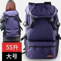 Backpack nylon Other / other Royal Blue (small), purple (upgraded large), purple (small), black (small), royal blue (upgraded large), black (upgraded large) brand new large Zipper buckle travel Double root Japan and South Korea soft youth yes Soft handle Solid color Yes female Vertical square candy