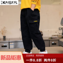trousers Kaiser / Caesar neutral 120cm 130cm 140cm 150cm 160cm 170cm spring and autumn trousers leisure time There are models in the real shooting Leggings Leather belt middle-waisted cotton Don't open the crotch Cotton 95% polyurethane elastic fiber (spandex) 5% WY-2060 Class A Summer 2020