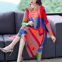 Women's large Spring 2021 Picture color M L XL 2XL 3XL Dress Long sleeves JSM6ZyR6 Ji Simo 35-39 years old Other 100% Pure e-commerce (online only)