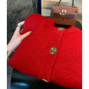 Wool knitwear Spring 2021 Average size, s, M gules Long sleeves singleton  Cardigan acrylic fibres 51% (inclusive) - 70% (inclusive) routine GA for the seasons