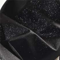 Fabric / fabric / handmade DIY fabric Leatherwear Pure black (half meter price, multi shot, no cut), pure black sample (10 * 10 cm size) Loose shear piece Solid color printing and dyeing clothing Europe and America