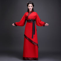 National costume / stage costume Spring 2017 Black red S【155-160cm】 M【160-165cm】 L【165-170cm】 XL【170-175cm】 XXL【175-180cm】 XXXL There's no end to flattery Other 100%