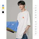 T-shirt Youth fashion Yellow white blue black green orange light gray dark gray routine M L XL Zijun Short sleeve Crew neck easy daily summer T1498 Cotton 100% teenagers routine tide Cotton wool Summer 2020 Solid color Embroidery other No iron treatment Domestic non famous brands