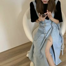 Fashion suit Spring 2021 S M L XL Black T-shirt + light denim skirt black T-shirt light denim skirt 18-25 years old You Suo 168TTBB Other 100% Pure e-commerce (online only)
