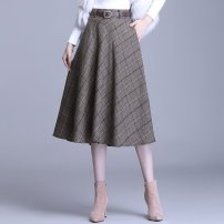 Dress Gray grid [free belt] - 76d, coffee color grid [free belt] - 0i6, collection and purchase priority delivery female Other / other M suggests 90-105 kg, l 106-116 kg, XL 117-127 kg, 2XL 128-138 kg, 3XL 139-149 kg, 4XL 150-160 kg Other 100% other A-line skirt 962AE9070 3 months