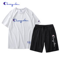 Leisure sports suit summer M,L,XL,2XL,3XL,4XL Short sleeve Champion VIP shorts youth T-shirt cotton 2020 cotton