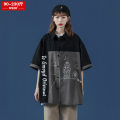 Women's large Summer 2021 Black green M (90-110 Jin) l (110-130 Jin) XL (130-150 Jin) 2XL (150-170 Jin) 3XL (170-190 Jin) 4XL (190-210 Jin) 5XL (210-230 Jin) shirt singleton  street easy moderate Cardigan Short sleeve Cartoon animation square neck routine cotton Three dimensional cutting routine wrzb